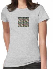 Colored Stripes Octet Womens Fitted T-Shirt