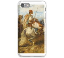 ADOLF SCHREYER ; HORSEMEN iPhone Case/Skin