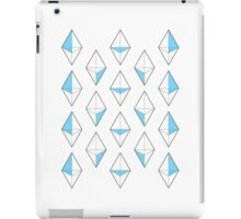 Blue Tetrahedrons  iPad Case/Skin