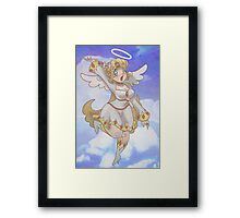 Blond Angel Girl Framed Print