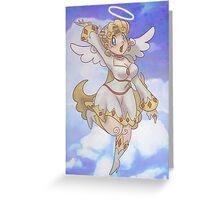 Blond Angel Girl Greeting Card