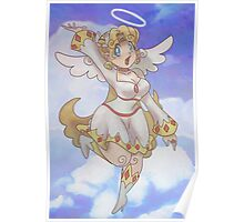 Blond Angel Girl Poster