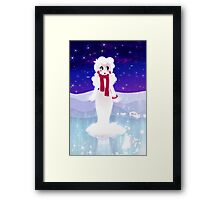 Snow woman Framed Print