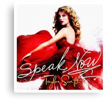 Taylor Swift Speak Now Red Canvas Print