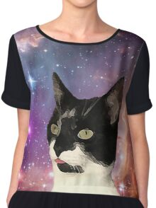 Cat Tongue In Space Chiffon Top