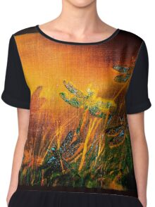 Dragonfly...Towards The Light  Chiffon Top