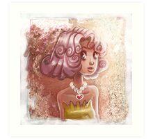 Curly Pink Hair Art Print