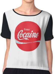 Circular Coca Coke Cola Cocaine  Chiffon Top