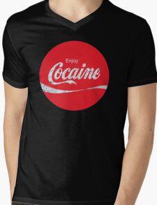 Circular Coca Coke Cola Cocaine  Mens V-Neck T-Shirt