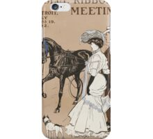 Artist Posters Blue ribbon meeting Detroit July 14 19 1902 0734 iPhone Case/Skin