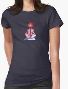 Yoga Spine Womens Fitted T-Shirt