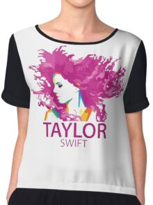 Taylor Swift T Shirt Chiffon Top