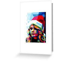 Taylor Swift Santa Hat Greeting Card