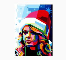 Taylor Swift Santa Hat Womens Fitted T-Shirt