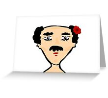 florist boy Greeting Card