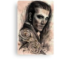 Chris Motionless Caffeine Shock Canvas Print