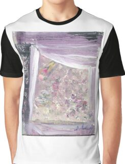 Grandmother's Window- Original acrylic  painting on Canvas by Russian Artist Graphic T-Shirt