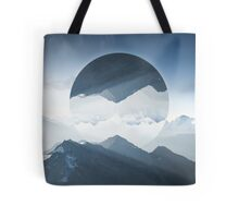 High mountain in morning time Tote Bag