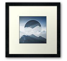 High mountain in morning time Framed Print