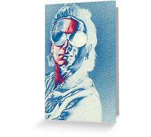 U2 - Bono Colorised Greeting Card