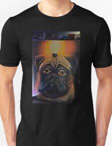 Pug dog & light Unisex T-Shirt