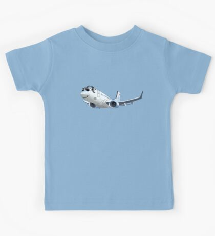 Cartoon Airliner Boeing 737 Kids Tee