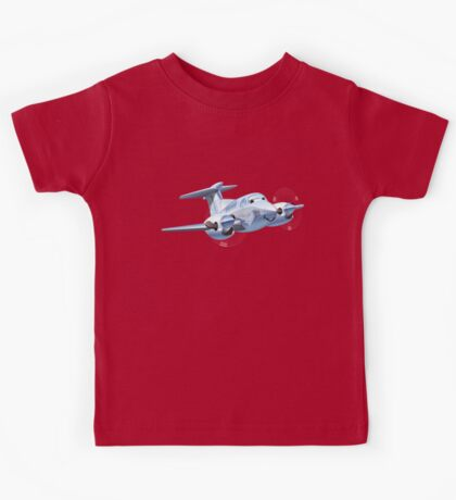 Cartoon Civil utility airplane Kids Tee