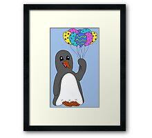 Celebration Penguin Framed Print