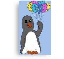 Celebration Penguin Canvas Print