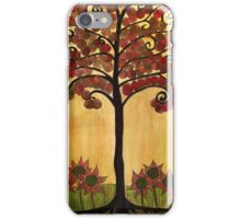 Happy Tree In Red iPhone Case/Skin