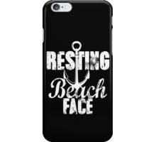 Resting Beach Face #restingbitchface Bitch Face Summer Beaches Sand Anchor Nautical Summertime Ocean Funny iPhone Case/Skin