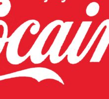 Circular Coca Coke Cola Cocaine Clean Sticker