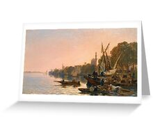 ALBERTO PASINI  A FERRY ON THE NILE  Greeting Card