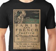 Artist Posters Paris and French justice by Thomas B Reed in the Saturday Evening Post 0991 Unisex T-Shirt