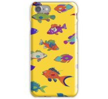Tropical Fish - Yellow iPhone Case/Skin
