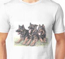 Longhaired German Shepherds Unisex T-Shirt