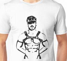 The (Black & White) Leather Boy Unisex T-Shirt