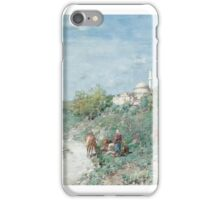 ALBERTO PASINI ITALIAN - HALT OUTSIDE A TURKISH HILL TOWN iPhone Case/Skin