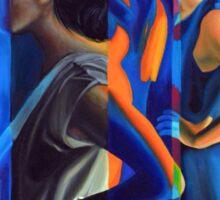 Cumulative Frequency, 50-80cm, 2015, oil on canvas Sticker