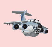 Cartoon Cargo Plane One Piece - Short Sleeve
