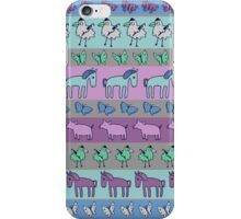 Strolling Striped Pigs and Ponies - Winter iPhone Case/Skin