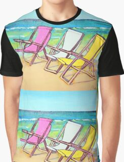 Beach-Side Graphic T-Shirt