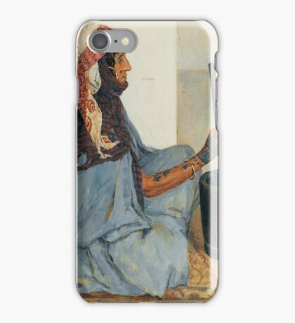 ALEXANDRE ROUBTZOFF ; ALIA SITTING AND GRINDING VEGETABLES  iPhone Case/Skin