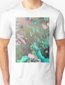 Carribean psychedelic marble ink T-Shirt