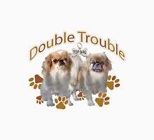 """Pekingese """"Double Trouble"""" Unisex T-Shirt"""