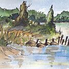 The fishing spot by Maree Clarkson
