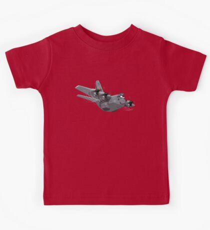 Cartoon Military Cargo Plane Kids Tee