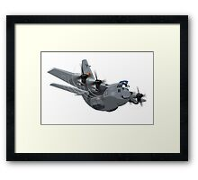 Cartoon Military Cargo Plane Framed Print