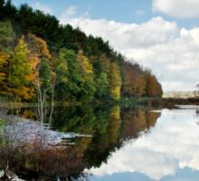 Beautiful Autumn Reflection Landscape Sticker
