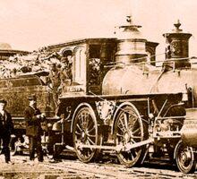 AMERICAN, STEAM, TRAIN, Central Pacific, Railroad, LOCOMOTIVE, IRON HORSE Sticker